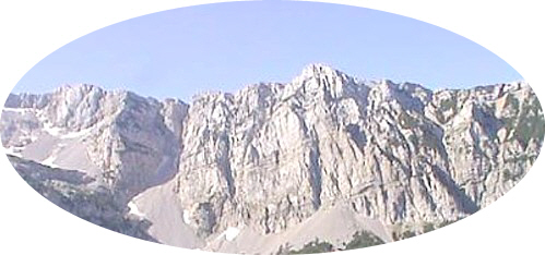 Peaks in the Dinaric Alps reach to over 8,000 feet.