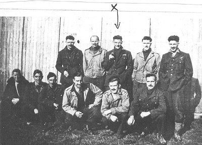 Iain MacDonald with POW group in Stalag Luft 3 -  Library Ref. 35 and 71 Iain is marked with X
